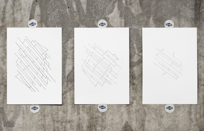Triptych from Lines for Disparate Thoughts